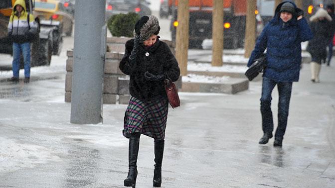 В российской столице объявлен «жёлтый» уровень погодной опасности на26марта