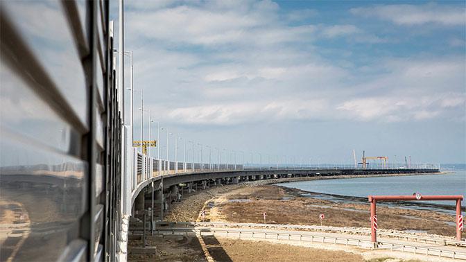 На Крымском мосту прошла установка шумозащитных экранов