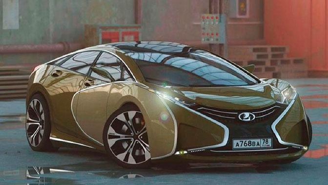 Российский дизайнер показал концепт суперкара Lada Questa
