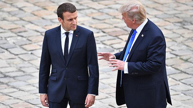 Трамп и Макрон обменялись данными по Сирии