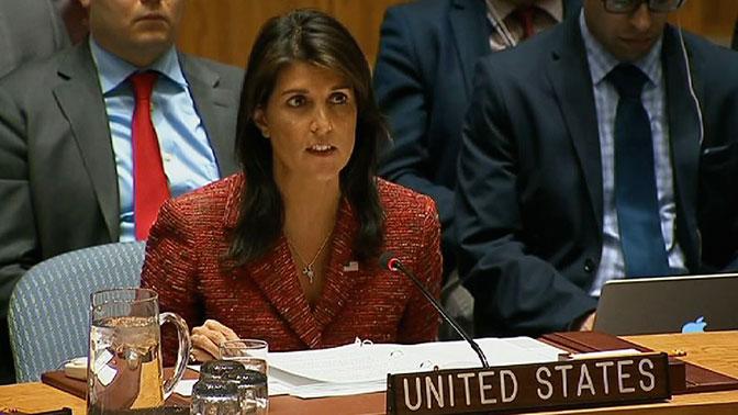 Хейли призвала членов СБ ООН проголосовать за американский проект резолюции по Сирии