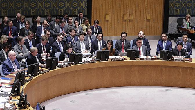 Российская Федерация наложила вето нарезолюцию США поСирии вСовбезе ООН