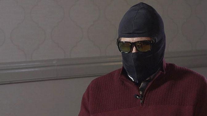 Замаскированный Родченков дал интервью норвежскому телеканалу