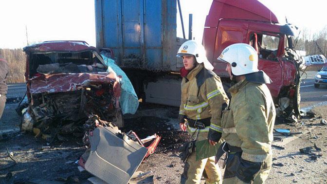 Жуткое ДТП в РФ. Микроавтобус столкнулся с фургоном, погибли семеро