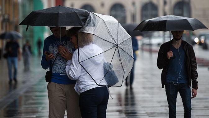 Москву на всю неделю накроют проливные дожди