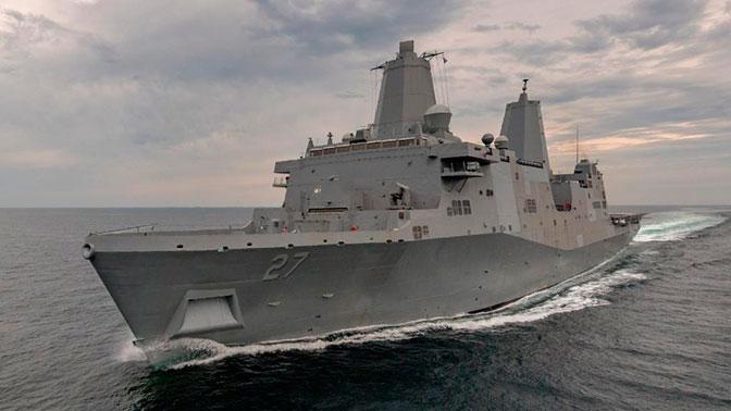 ВСША ввели встрой десантный корабль, накоторый установят лазерное оружие