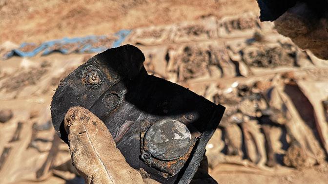 ВЛатвии при ремонте дороги отыскали останки 145 советских солдат