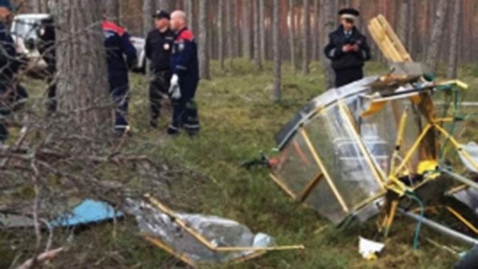 При крушении летательного аппарата под Петербургом умер человек