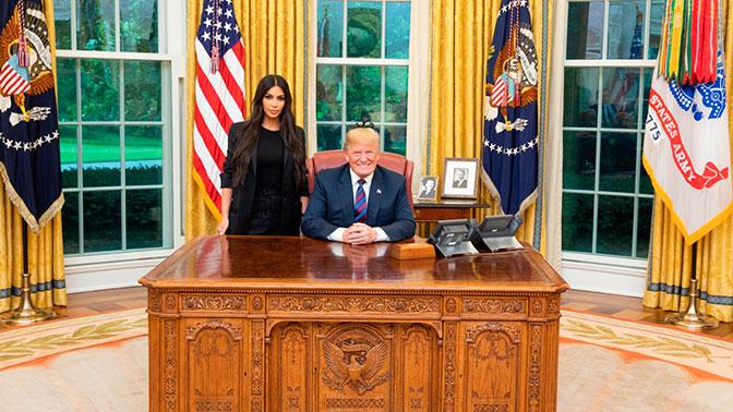 Трамп обсудил смоделью Ким Кардашьян тюремную реформу