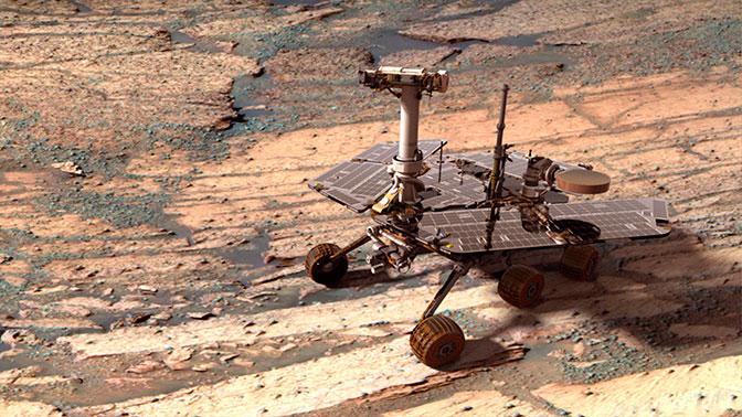 Марсоход Opportunity попал в сильнейшую бурю и перестал работать