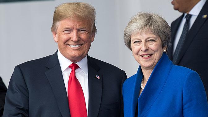 Дональд Трамп и Тереза Мэй собираются обсудить Россию