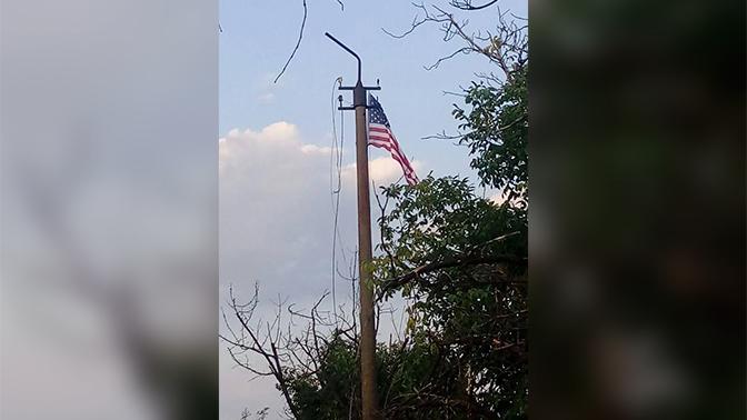 Всушники «пугают» ополченцев Донбасса флагами Италии и США