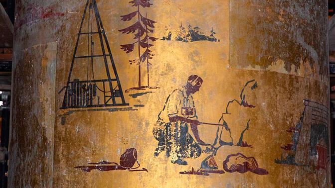 В павильонах ВДНХ нашли неизвестные фрагменты живописи