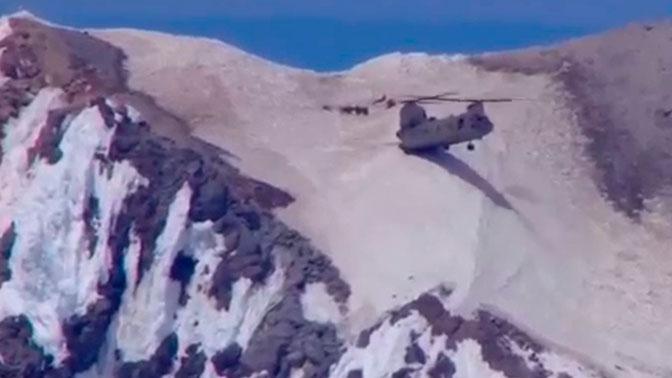 Вертолет ВВС США «воткнулся» в гору и улетел: видео