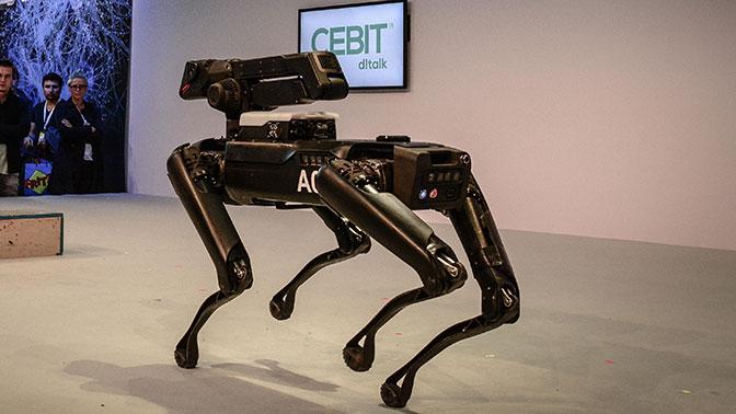 Российские ученые разработали четвероногих роботов