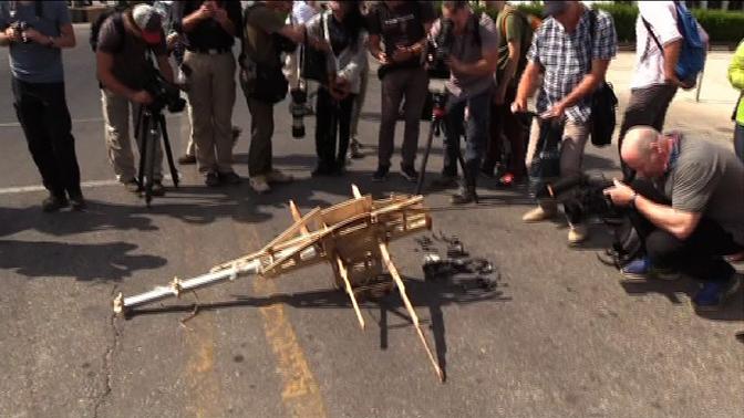 Западным журналистам показали сбитые дроны боевиков в Сирии