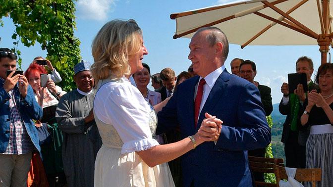 Путин рассказал, что объединяет его с мужем главы МИД Австрии