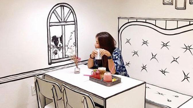 В Южной Корее открылось «кафе-мультфильм»