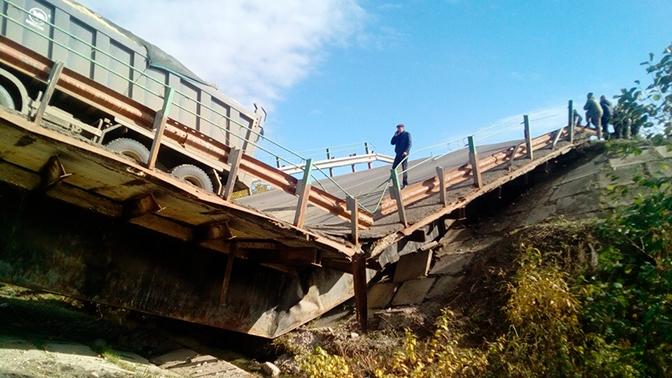 В Мордовии обрушился автомобильный мост