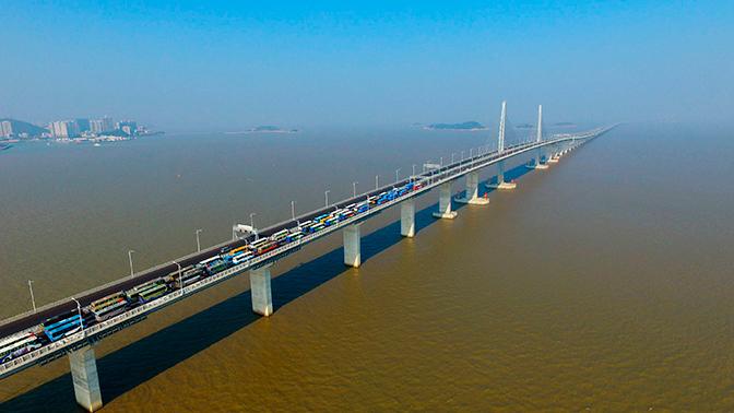 В Китае состоялось открытие самого длинного морского моста в мире