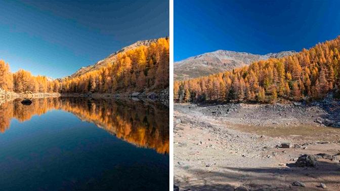 В Италии пропало знаменитое Голубое озеро