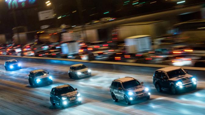 На МКАД произошло массовое ДТП с участием 14 автомобилей
