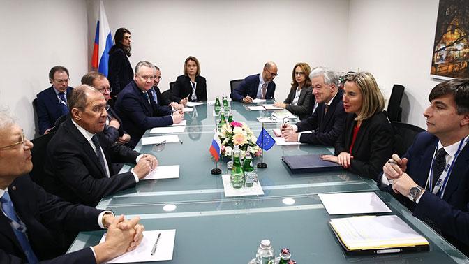 Лавров и Могерини обсудили договор РСМД