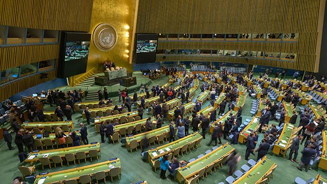 Генассамблея ООН приняла украинскую резолюцию о «милитаризации» Крыма