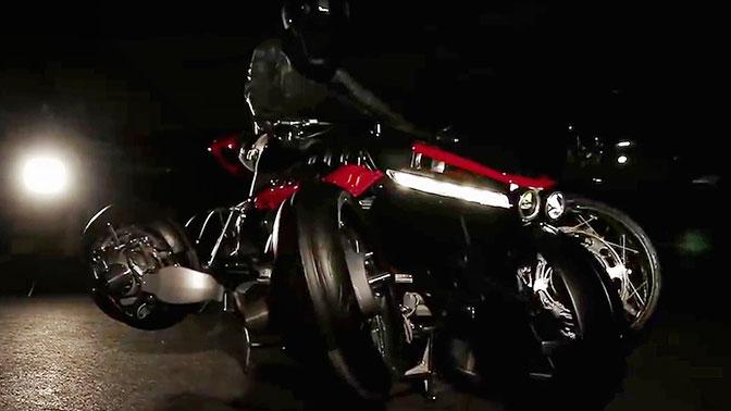 Французская фирма опубликовала видео летающего мотоцикла