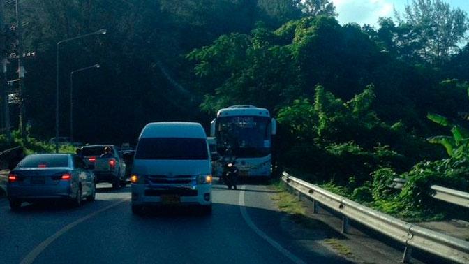 В Таиланде автобус с российскими туристами попал в аварию