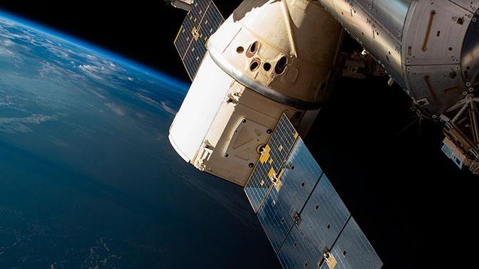 ВТихом океане благополучно  приводнился космический фургон  Dragon