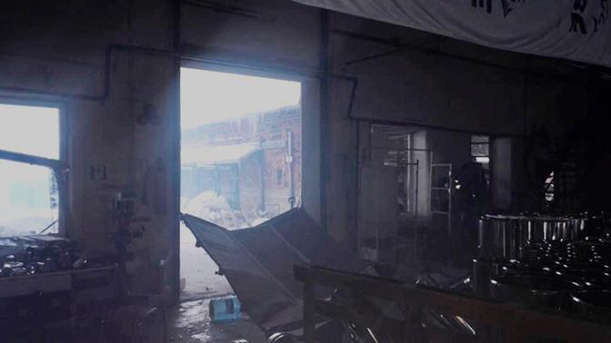 Опубликованы первые кадры с территории пострадавшего от взрыва завода в Кингисеппе