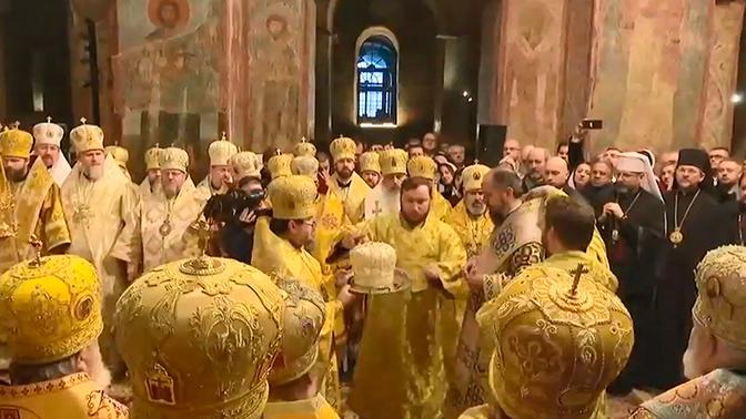 В РПЦ назвали показательным отсутствие гостей на церемонии интронизации Епифания в Киеве