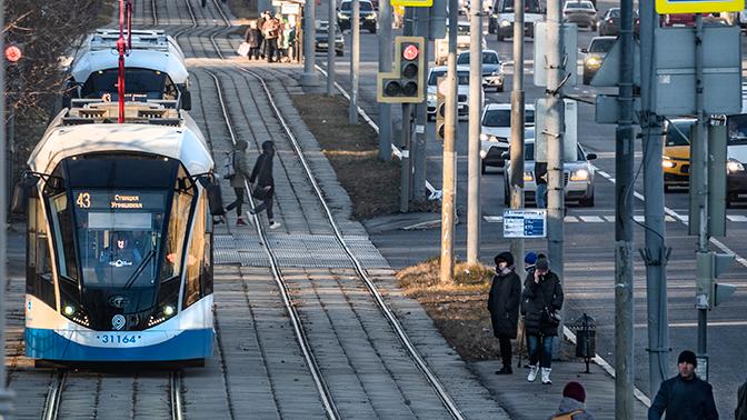Первый в России беспилотный трамвай пустят в ближайшие недели в Москве