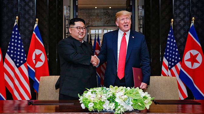 В МИД России и Китая одобрили саммит между Трампом и Ким Чен Ыном