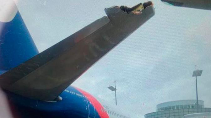 Опубликованы кадры с места столкновения двух самолетов во Внуково