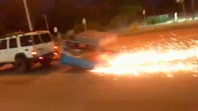 Австралиец «красиво» ушел от полицейской погони, подрезав поезд