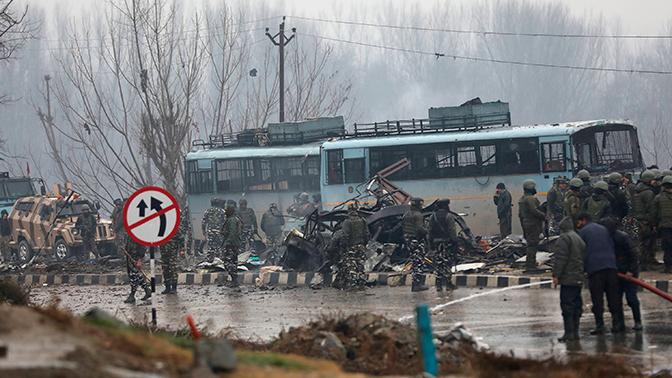 В Индии ликвидировали одного из организаторов подрыва военной колонны в Кашмире