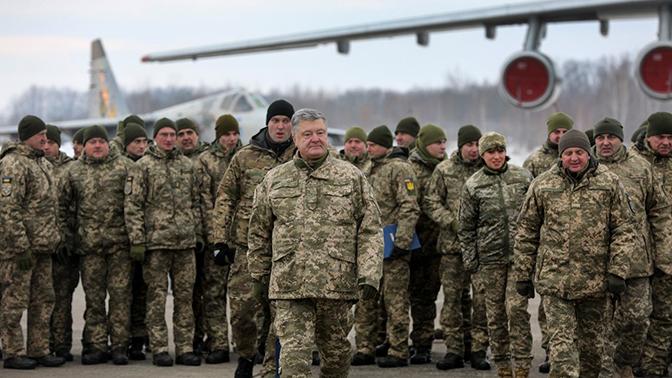 Порошенко заявил, что отправляется на фронт в Донбасс