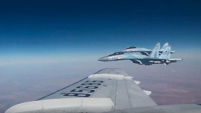 Минобороны опубликовало видео полета Шойгу над Сирией