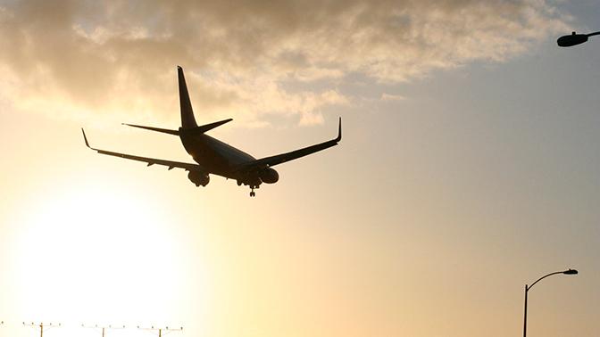 Пассажирский самолет столкнулся со стаей гусей в небе над США