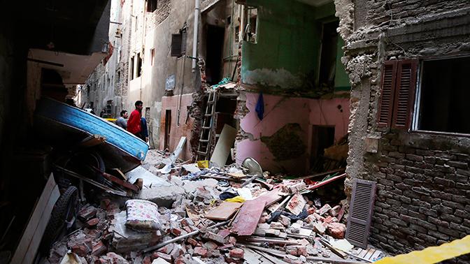 В Египте на рынке произошел взрыв
