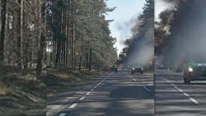Военный грузовик с американскими солдатами загорелся в Польше