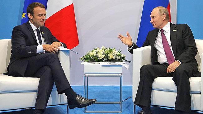 Зачем Макрон собирается в гости к Путину