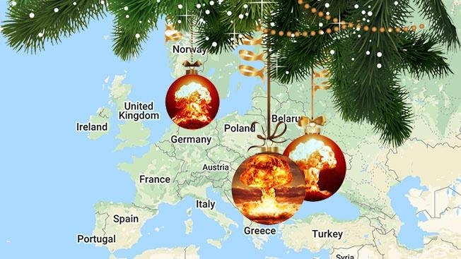 Рождественский подарок от Нового Света Старому: ядерный гриб и театр боевых действий