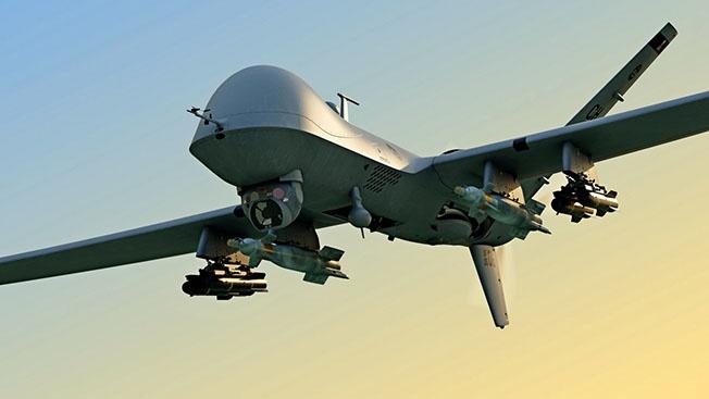 Летающие дроны с  боеприпасами вызывали?