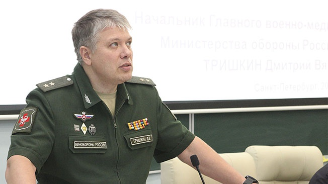 Дмитрий Тришкин: «Уровень подготовки военврачей и укомплектованность медицинских учреждений позволяют решать задачи здоровья армии России»