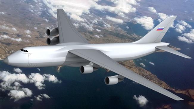 Россия представила аэродинамическую модель самого большого самолёта в мире