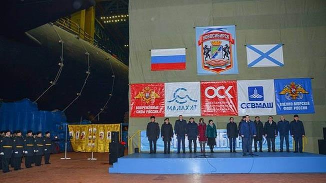 Подлодка К-573 «Новосибирск» спущена на воду