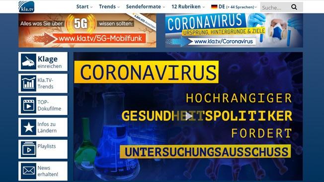 Немецкое ТВ: коронавирус выведен искусственно